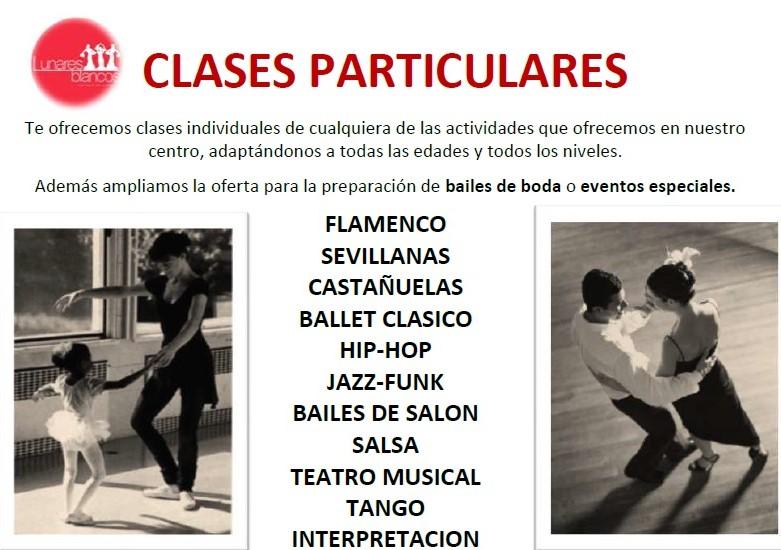 Clases particulares de la escuela de baile Lunares Blancos de Boadilla del Monte